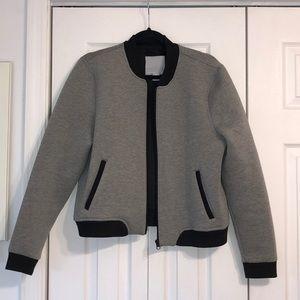 Black and Grey Bomber Jacket